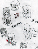 SKETCH DUMP: Jeff the Killer by InvaderIka