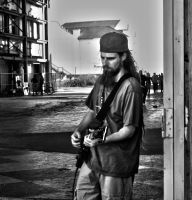 Musician in Old Deal Casino by SingTheBodyElectric