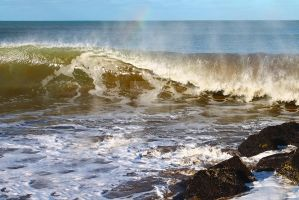 Rainbow in the Surf by saoirsesushi