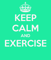 Keep calm and exercise by pregnant12345