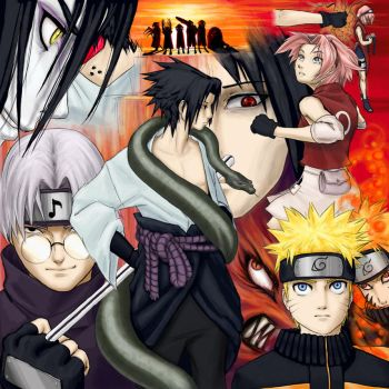 Naruto Collage: Tension Rising by tcumm001