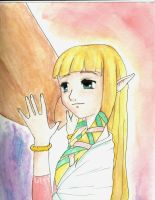 Zelda and her birdy... thing? by Raspberrychan3