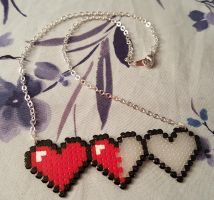 Heart Container Life Meter Necklace by emmadreamstar