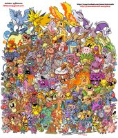 All Kanto Pokemon by JFRteam