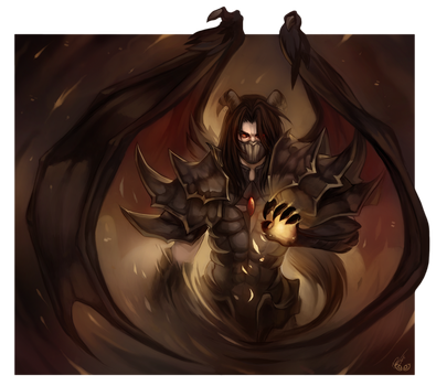 Winged Chaos - Commission by clover-teapot