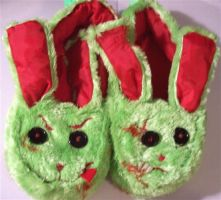 Zombie Bunny Slippers... YES by TGIFriday
