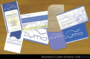 Cyma Business Card Studies by monggiton
