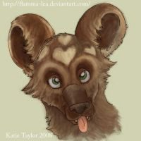 African Wild Dog Icon by Flamma-Lea