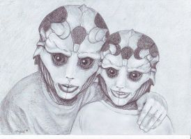 Drell children by Angua33