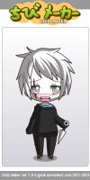 o3o Whiteface human in chibimaker by hellanugget
