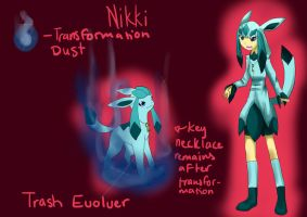 Evolvers - Nikki the Glaceon by StarLynxWish