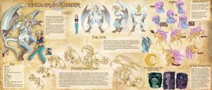 Amber and Unimera Reference Sheet - Qvi by Sephzero