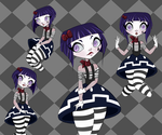 Mime Girl Model Sheet 1 by Maxie-Prin