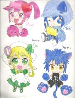 Ran, Miki, Su, and Yoru by Kateroy