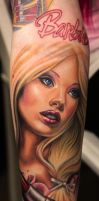 Barbie Tattoo by KellyEden