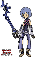 Aqua Kingdom Hearts style Adventure Time by Inyor