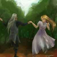 Anonymous Annatar 2012: Celeborn and Galadriel by vinyatar