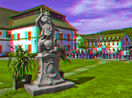 Marienthal Monastery 3D ::: HDR Anaglyph Stereo by zour