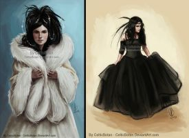 'She-Wolf' and 'Black Swan' by CelticBotan