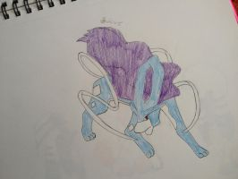 Suicune by Darkshadowarts