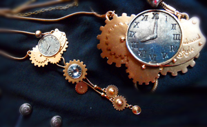 Steampunk Necklace by Neko-Vi