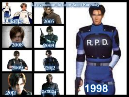 La evolucion de Leon Scott Kennedy by SandraRedfield