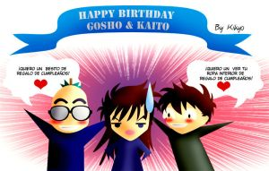 Happy Birthay Gosho and  Kid by Madame-Kikyo