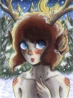 Deers love snow by lunatic-love