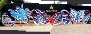 paint on the Chucks A1 by alone1