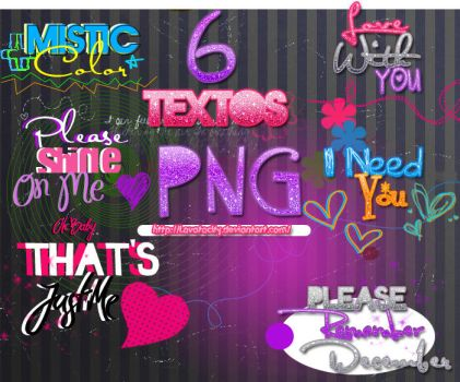 6 Textos PNG by LovatoCity