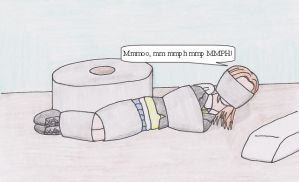 Chiaki Taped Up by TraceMem