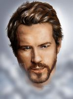 Ryan Reynolds by Clu-art