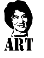 stencil jackie chan by ARTpulse