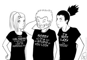 Naruto- Team Ten T-shirts by SamRH