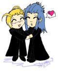 Saix x Larxene by brokenXeternity