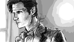 Eleventh Doctor Sketch by Chrisily