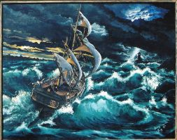 storm at sea by namtra9