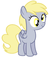 Filly Derpy Hooves Vector by kingdark0001