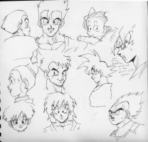 DBZ Faces by lilcyborg
