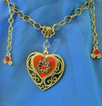 Ruby Heart Necklace by DemonSlayerCosplay