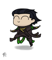 Chibi Dancing Loki by illyriablue24