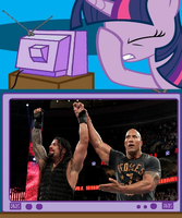 Twilight's Reaction to Royal Rumble by DigitBrony