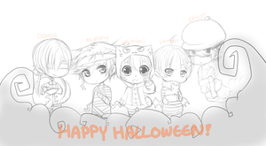 .:WIP : Halloween:. by InkHeartPaw
