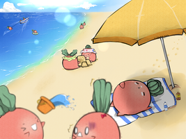 radish beach by c-loudsart