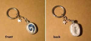 Hearthstone Charm Keyring- WoW by halismi
