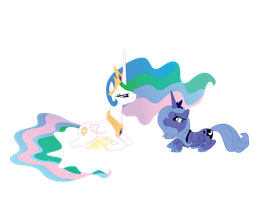 Luna and Celestia by The3javi