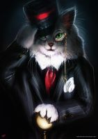 Like a Sir - Maine Coon Cat by nahnahnivek