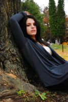Brunette in the woods2 by angelsfalldown1