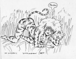 Tigra on the prowl by Rabbette
