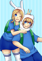 Fiona and Finn by IKM218